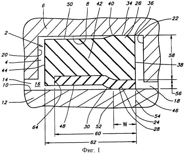 Композитное, высокотемпературное динамическое уплотнение и способ его изготовления
