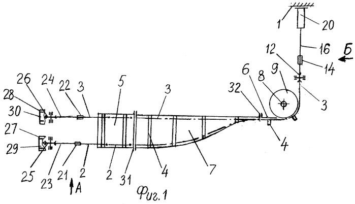 Стенд для исследования параметров забойного скребкового конвейера с двухцепным горизонтально замкнутым тяговым органом