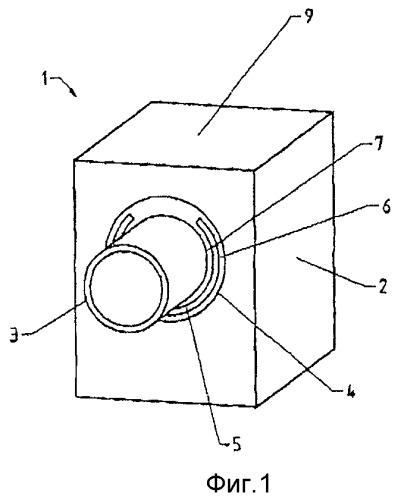 Первый стеновой компонент с отрезком трубы