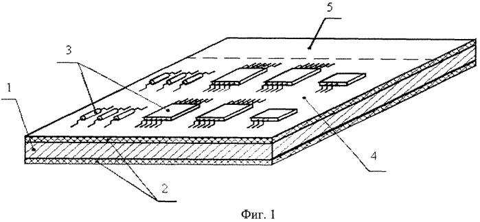 Модуль радиоэлектронной аппаратуры с гипертеплопроводящим основанием