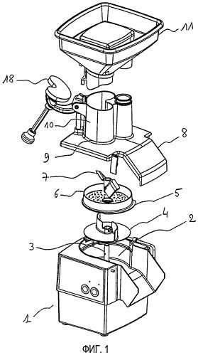 Аппарат механической обработки продуктов питания, содержащий кухонный прибор для приготовления пюре