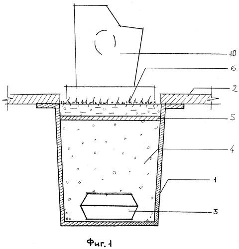 Балка перекрытия для захоронения гробом в грунт