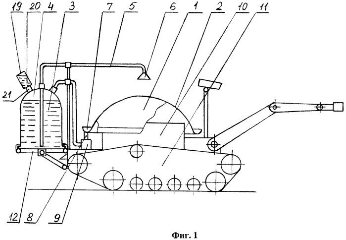 Способ и устройство тепловой защиты пожарного робота