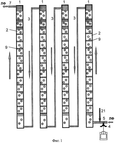 Пульсационно-циклический способ экстракционного разделения смеси компонентов и устройство для его осуществления