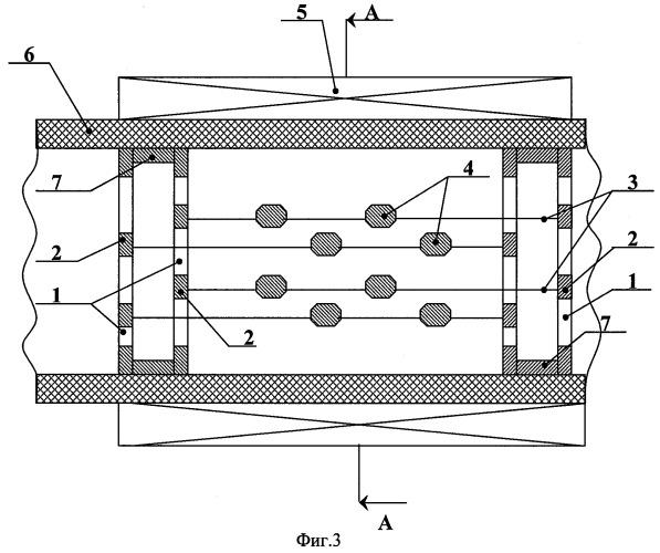 Электромагнитный фильтр с пространственно-периодичной структурой фильтрующих элементов