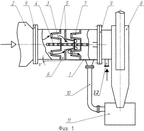 Барботажно-вихревой аппарат с коническим завихрителем