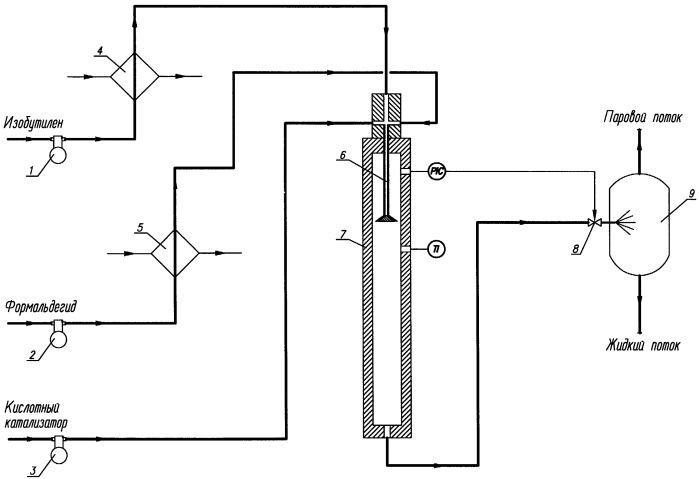 Способ получения изопрена в трубчатом реакторе и устройство для его проведения