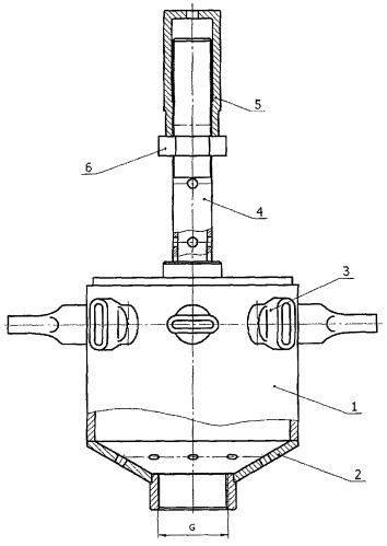 Насадка гидромонитора устройства нижнего слива для устройства разогрева и слива высоковязких и застывших продуктов методом замещения