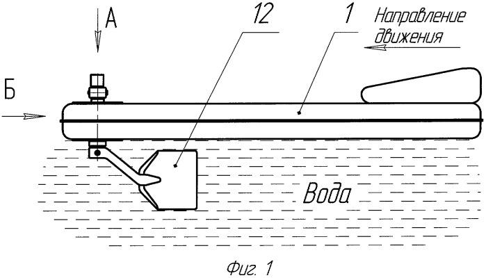 Надувной матрац с быстросъемным ножным приводом и движителем для плавания по воде