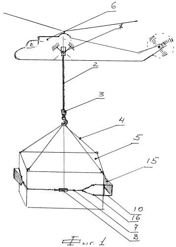 Устройство для стабилизации груза в полете, транспортируемого на внешней подвеске вертолета