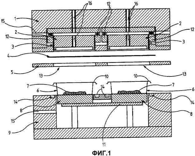 Способ газонепроницаемого упаковывания предметов с использованием плотно прилегающего к ним пленочного материала и устройство для его осуществления