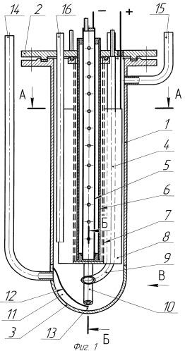 Электролизер для растворения оксидов металлов