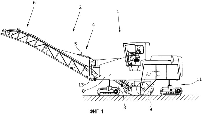 Сгибающийся перемещающий транспортер для строительной машины, самодвижущаяся строительная машина и способ поворота перемещающего транспортера
