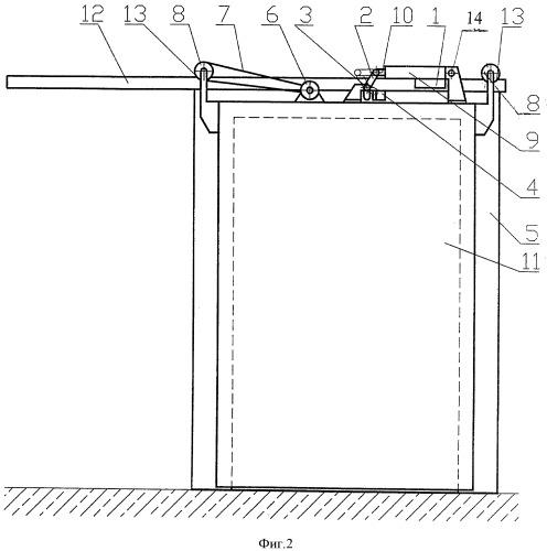 Способ открытия откатной двери холодильной камеры и устройство для его осуществления