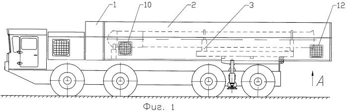 Транспортный модуль боевой машины грунтового ракетного комплекса