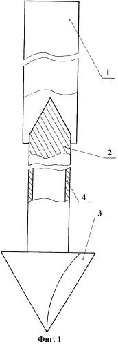 Донный репер для установки на мягкий грунт водоемов