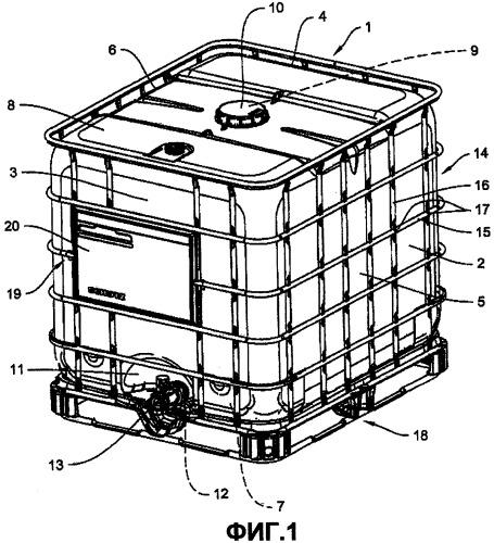 Маркировочная панель контейнеров для транспортировки и хранения жидкостей и сыпучих материалов