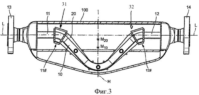 Измерительный преобразователь вибрационного типа и применение измерительного преобразователя во встроенном приборе