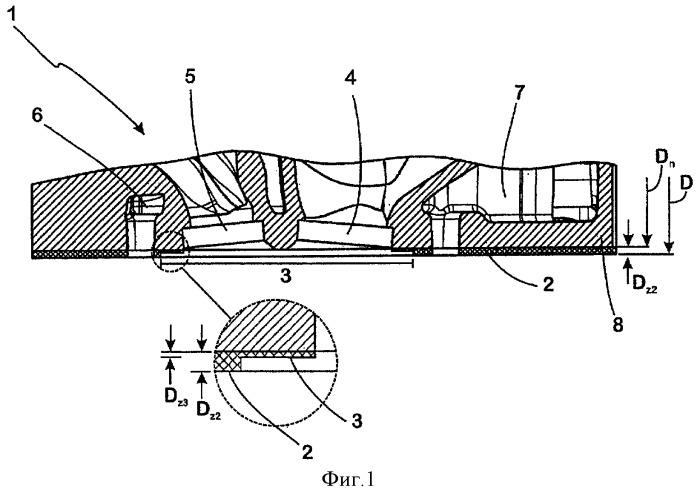 Литая заготовка головки цилиндра, литая головка цилиндра для дизельных двигателей внутреннего сгорания и способ изготовления литой заготовки головки цилиндра