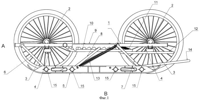 Универсальные полозья для четырехколесных детских колясок