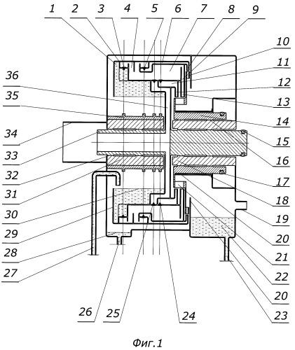 Роторный гидрореактивный двигатель