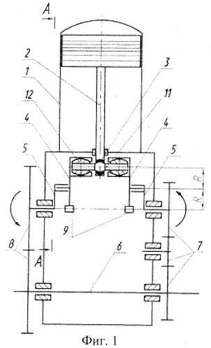 Ромбический кривошипно-планетарный поршневой механизм