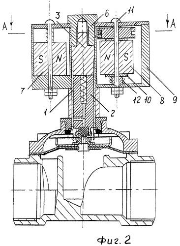 Магнитное устройство управления клапаном