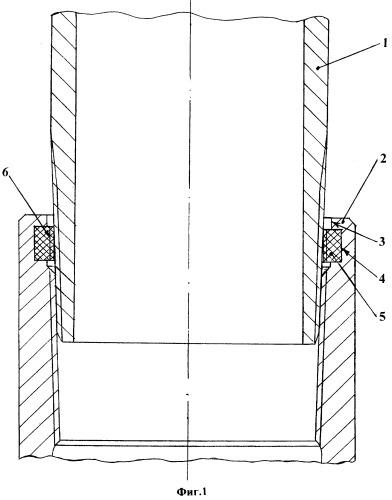 Соединение обсадных колонн или насосно-компрессорных труб с конической резьбой на концах в нефтяных и газовых скважинах