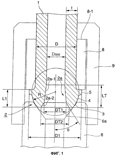 Конструкция соединительной головки трубы высокого давления для подачи топлива (варианты)