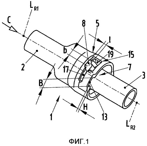 Соединение двух труб и система труб для соединения двух воздушных маслоуловителей и насоса (варианты)