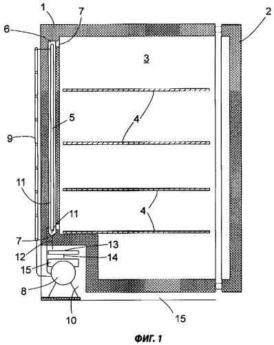 Холодильный аппарат и испаритель талой воды для такого аппарата