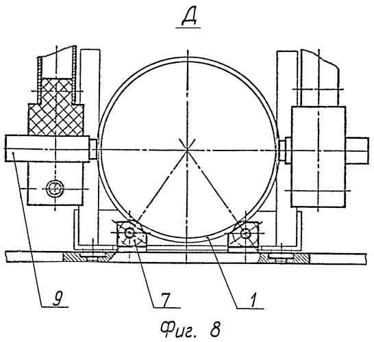 Установка ориентирования кассетного боеприпаса в процессе его обезвреживания