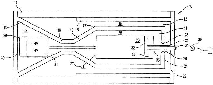 Высокомощный микроволновый генератор для излучения коротких импульсов, его применение в антенной решетке и антенная решетка из таких микроволновых генераторов