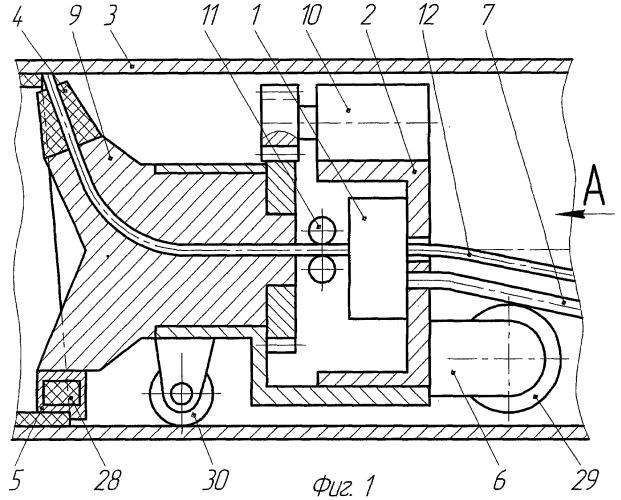 Технологический комплекс для нанесения покрытий на внутреннюю поверхность труб