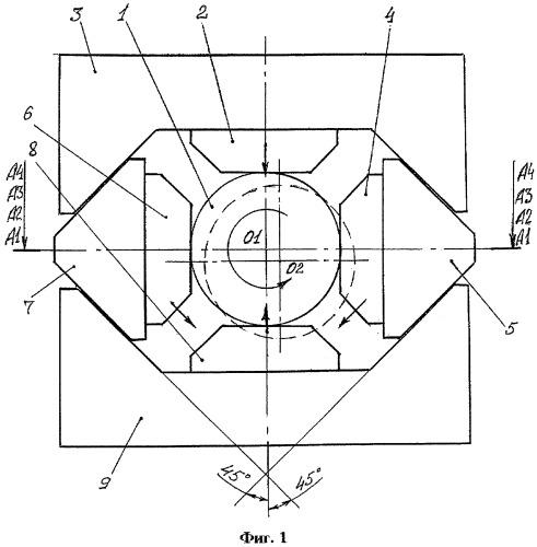 Способ ковки заготовки в четырехбойковом ковочном устройстве