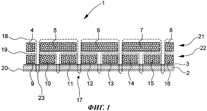 Способ изготовления с использованием tfp-технологии одно- или многослойной волокнистой заготовки и опорный слой