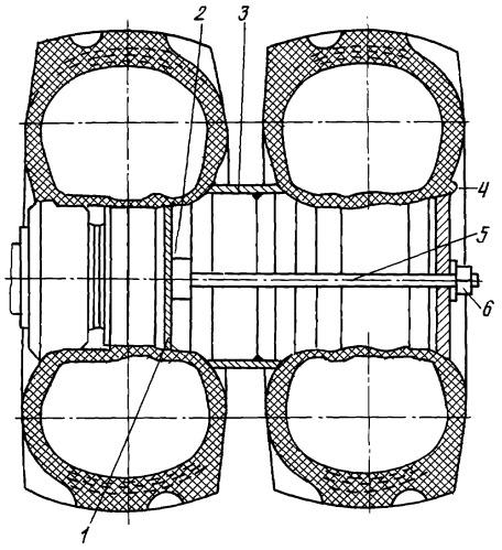 """Переходное устройство для установки дополнительных колес трактора """"кировец"""""""