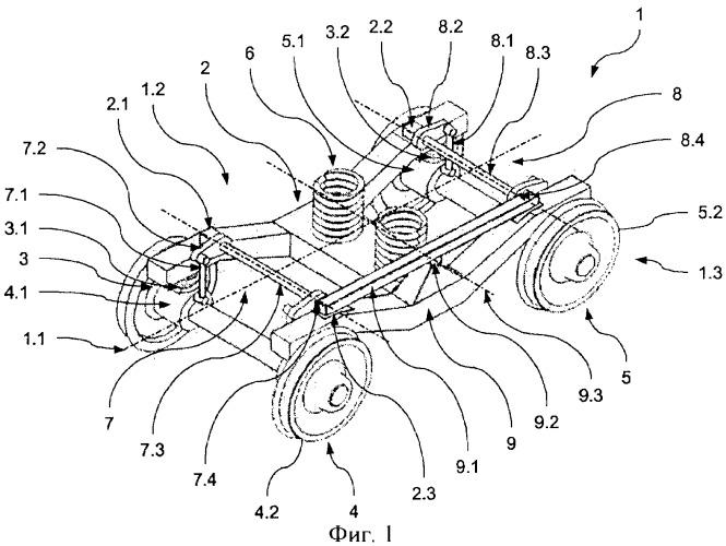 Транспортное средство с устройствами для противодействия боковой качке