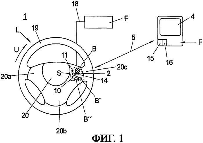 Узел рулевого колеса автомобиля и способ управления переносным функциональным компонентом