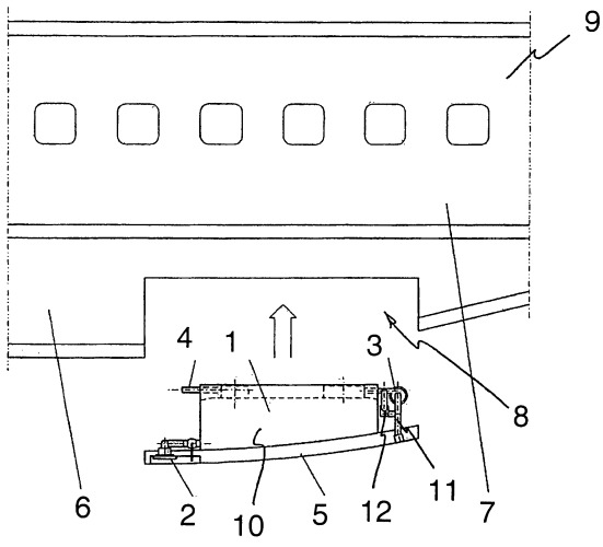 Модуль резервуара для встроенной вакуумной системы канализации летательного аппарата