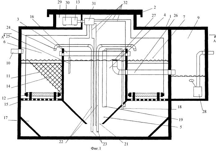 Способ очистки сточных вод и устройство для его осуществления с вертикальными окислительными каналами