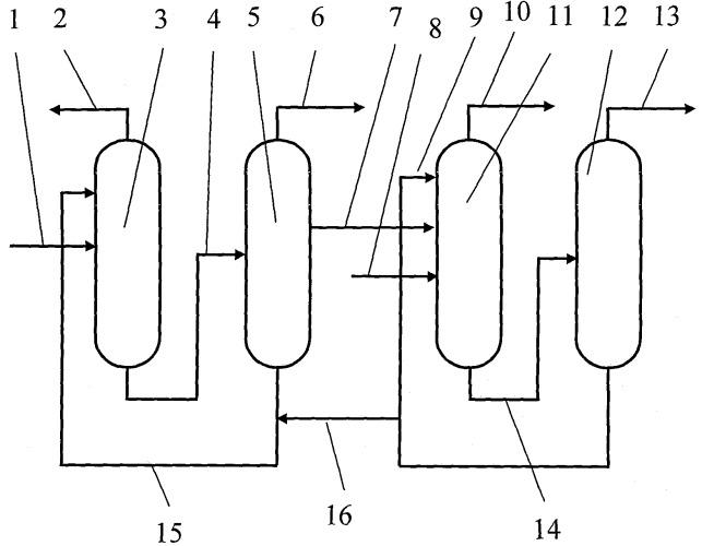 Способ разделения смесей углеводородов изопентан-изоамилен-изопренсодержащей фракции или бутан-бутилен-дивинильной фракции