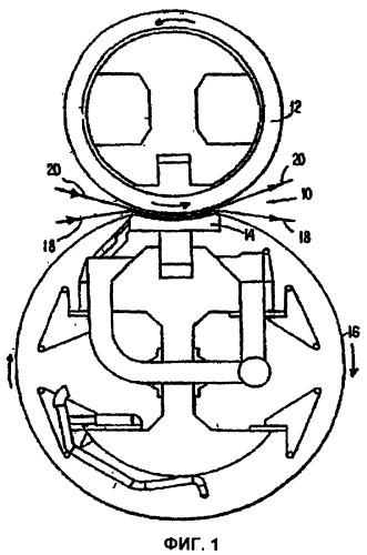 Лента с желобчатой поверхностью, предназначенная для использования в станинном прессе