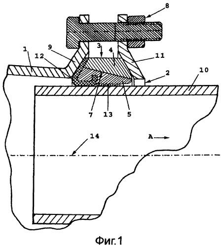 Устройство соединения для трубы
