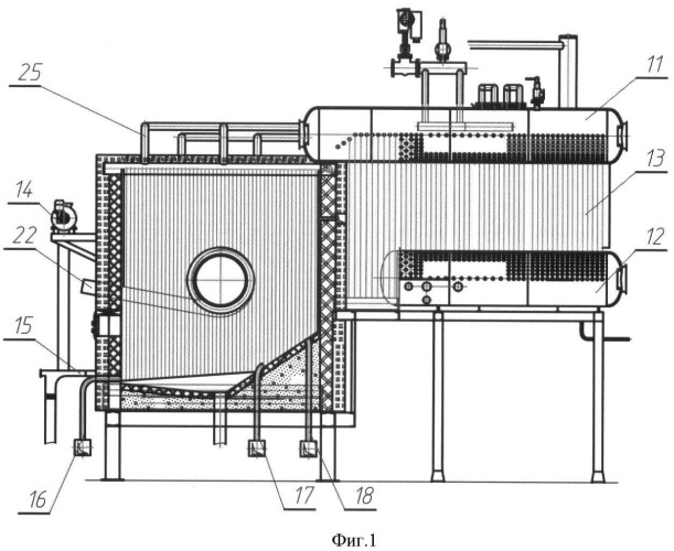 Steam boiler with swirling-type furnace