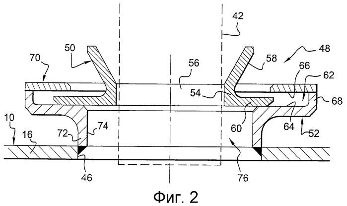 Устройство, используемое для направления конструктивного элемента в отверстие, расположенное в стенке камеры сгорания газотурбинного двигателя, камера сгорания газотурбинного двигателя и газотурбинный двигатель, содержащие вышеуказанное устройство
