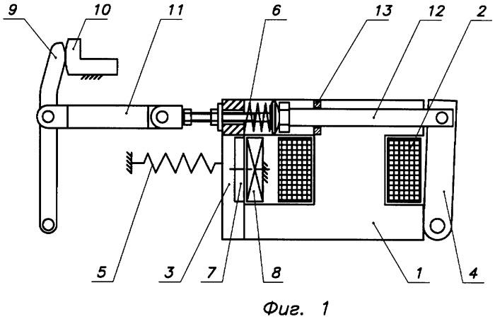 Комбинированный привод выключателя постоянного тока
