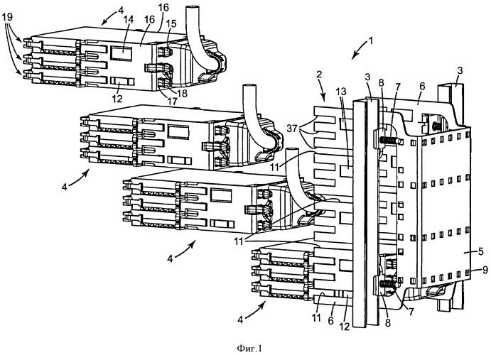 Комплект телекоммуникационного оборудования с внутренней и внешней рамами