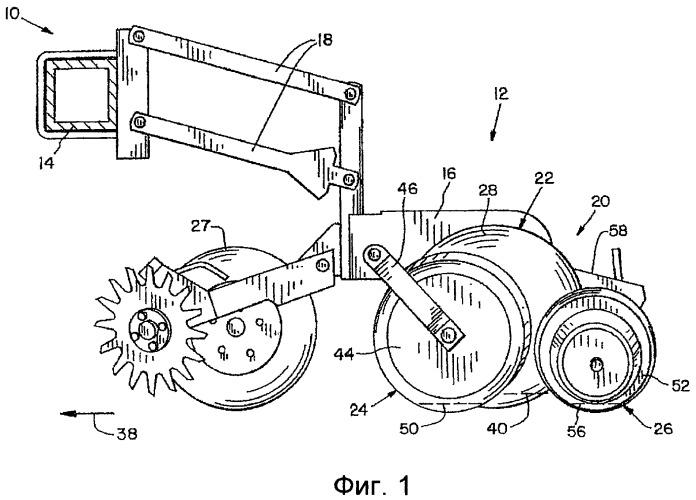 Сельскохозяйственная машина с компактным сошником и бороздозаделывателем