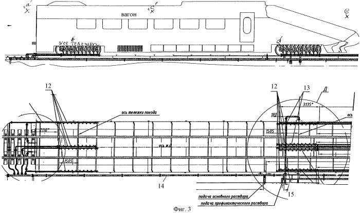 Способ удаления льда и/или предотвращение его образования на ходовых частях поезда и устройство для его реализации